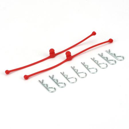 Body Klip Retainer, Red (2)