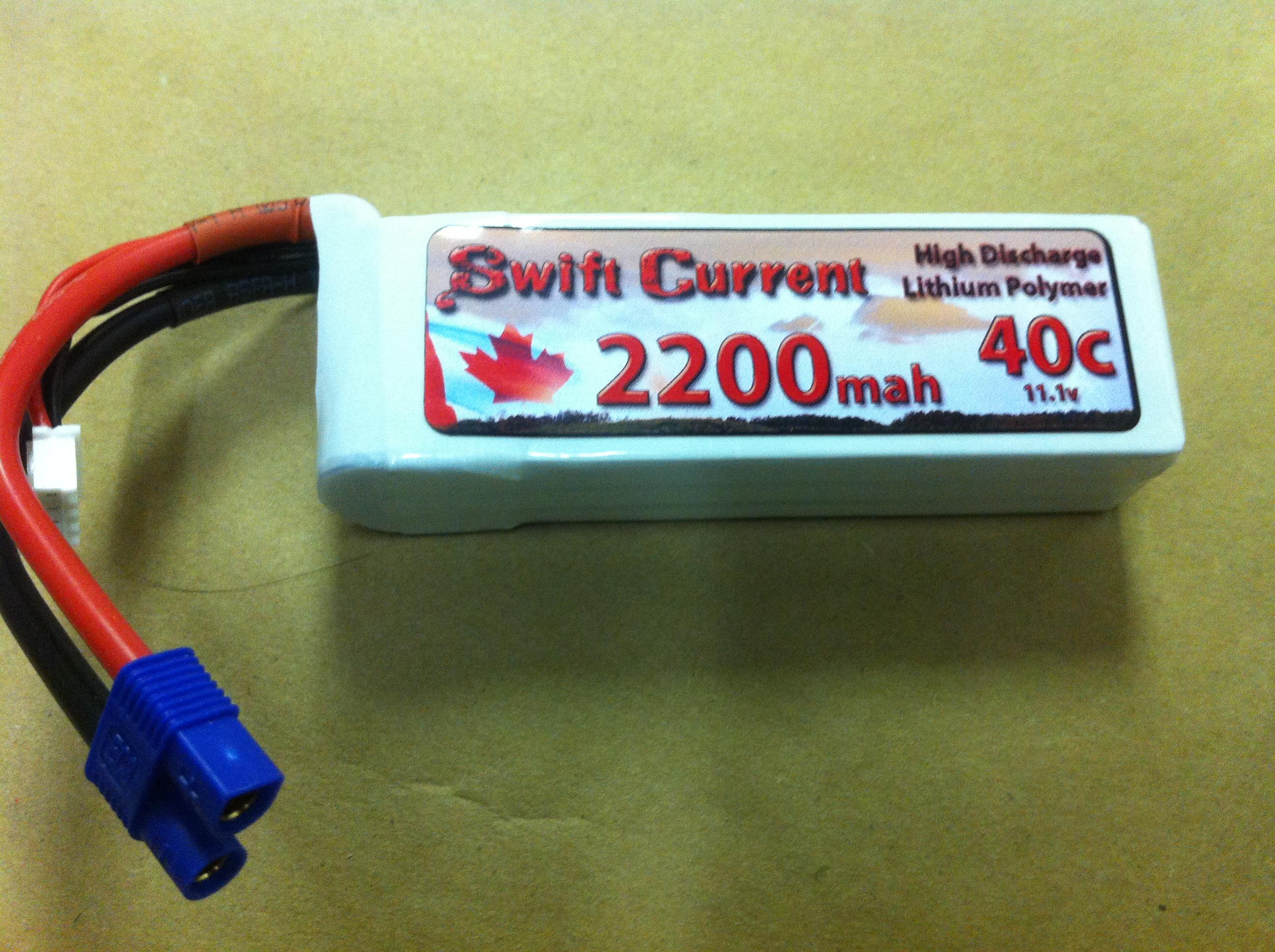 Swift Current 2200mAh-3S-40C Soft Case Lipo