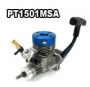 15 MARINE EXHAUST ENGINE/ PULL STARTER/BLACK ALUM HEAD/ ABC/ ROT
