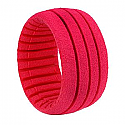 1/8 Truggy Shaped Insert Grooved Red, Soft (4 pcs)
