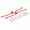 Body Klip Retainer, Red (2)