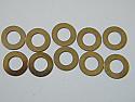 Stainless Steel Shim 5x8.75x0.3mm  (10PCS)
