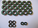 Boca Bearing Green Seal Kit For Z-Car Buggy and Truggy (Without Z10 Steering)