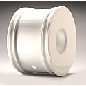 Standard Truggy Dish Wheel, White: 8T (4)