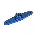 MACHINED ALUM SERVO ARM / HITECH/ BLUE