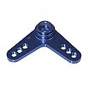 L-Shape Servo Arm/Blue/Futaba