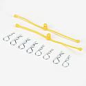Body Klip Retainer, Yellow (2)