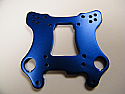 ALUMINUM FRONT SHOCK TOWER / BLUE FOR RTR TRUGGY